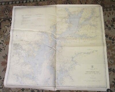 1946 Nautical Chart -- BALTIMORE, MARYLAND -- Chesapeake Bay -- Havre de Grace