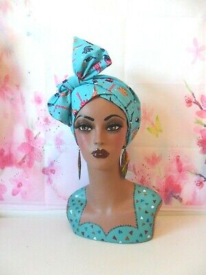 Hand painted mannequin head and shoulders.