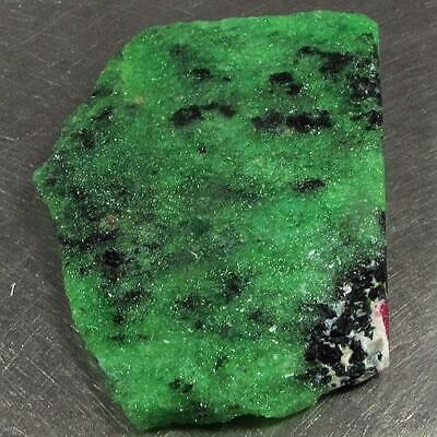 123.31 Ct - Beautiful Unheated Natural Rough Green Ruby Zoisite Madagascar
