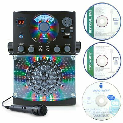 Karaoke Machine with Disco Lights Microphone CD Player Bluetooth party Flashing