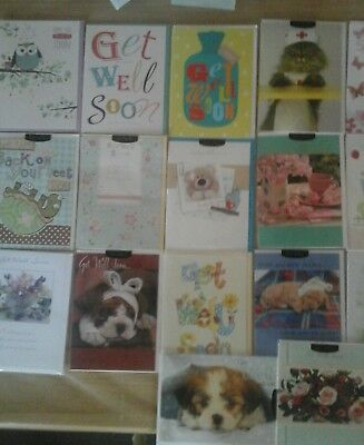 50 get well cards, wholesale joblot greeting cards