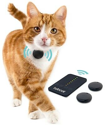 Tabcat Cat Tracker - Safe and Found Wireless Cat Kitten Pet Tracking Device