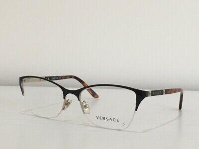 2524849b3f 6 Versace 1218 1344 Cat Eye Black Havana Gold Eyeglasses Optical Frame 53-17 -