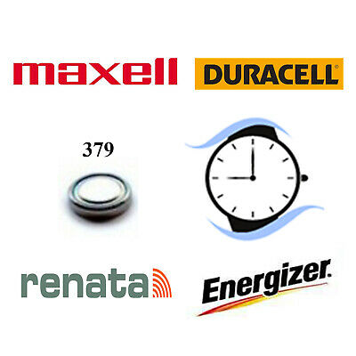379 SR521SW Silver Oxide Watch Battery 1.55v Duracell Renata Maxell Energizer