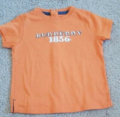 NEW BURBERRY short sleeve T-shirt AUTHENTIC 18M 18 months orange
