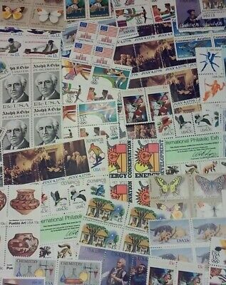 New 100 Assorted Mixed, Multiples & Singles of 13 ¢ Cents US Stamps. FV $13.00
