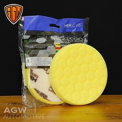 "Chemical Guys 5.5"" Hex-Logic Yellow Heavy Machine Cutting Pad - Genuine UK"