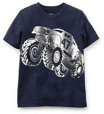 Carter's Baby Boy  NEW   Monster Truck Tee Navy Sizes 6M ~ MSRP $12