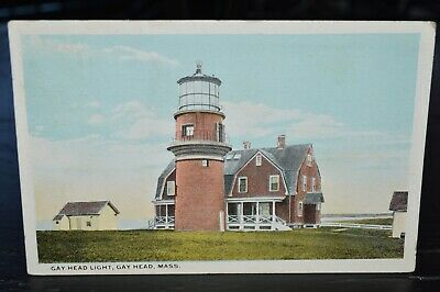 Gay Head Lighthouse Martha's Vineyard Massachusetts MA Vintage Postcard