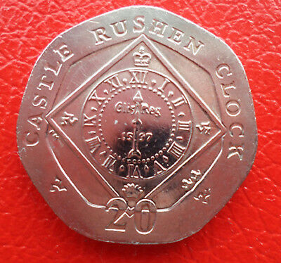 "Isle of Man - ""Rushen Clock"" 20p coins - your choice"