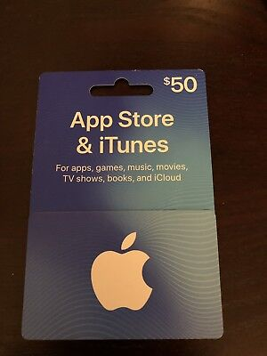 $50 value Apple App Store/iTunes Gift Card (purchased on Amazon)