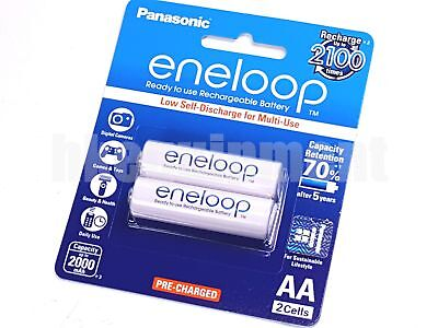 Panasonic eneloop Rechargeable NiMH AA Pre-Charged 2100 Cycles Battery x2