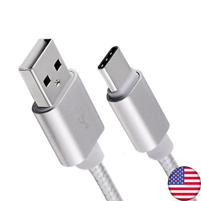 1.5ft/3ft/6ft Braided Type C Fast Charging Cable USB-C Rapid Power Charger Cord