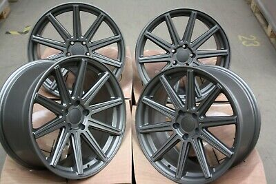 "ALLOY WHEELS X 4 18"" GREY V10 RTC FOR 5x112 AUDI A3 S3 A4 S4 B5 B6 B7 B8 B9 A6"