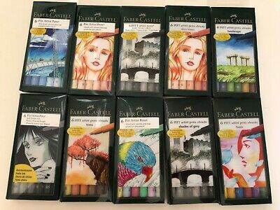 Faber Castell Artist Pens Brush Tip Multiple Styles, YOU PICK!