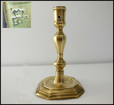 Early 18 Th Bronze Candlestick Louis 14 Period