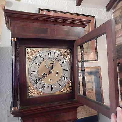 DANIEL LE COUNTE LONGCASE CLOCK 8 DAY BY A FAMOUS  LATE  C17th LONDON MAKER