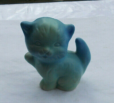 "RARE Vintage 3.5"" Van Briggle Pottery Kitty Cat Figurine Statue Signed Adorable"