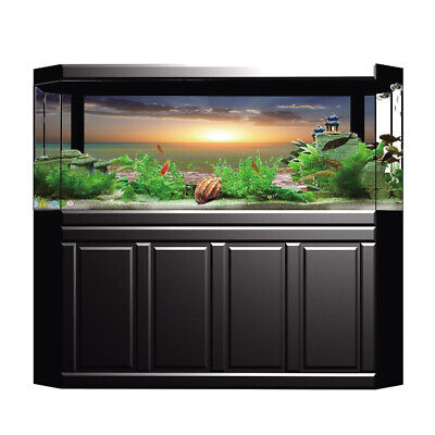 Aquarium Fish Tank Background Poster Beach Landscape Decor 122x46cm