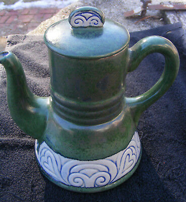 Vintage HB Quimper French Art Pottery Coffee Pot
