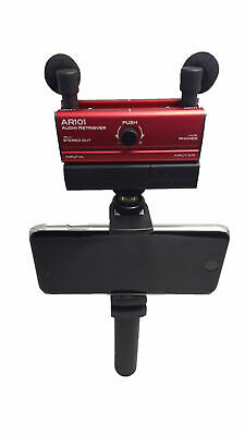 Fostex AR101L RED Audio Interface Lightning Connection w/ Cleaning Cloth
