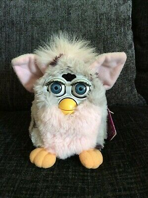 Original Vintage Furby 1998 Tiger Electronics Grey/Black Spots/Pink. With Tags.