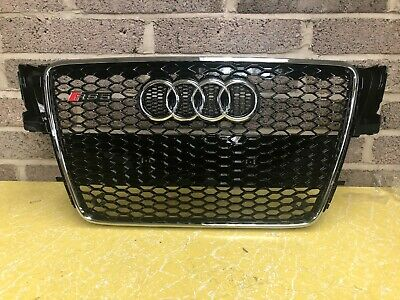 Audi A5 S5 RS5 Honeycomb Style Front Grill Grille Gloss Black 2007-2011