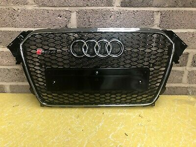 Audi A4 S4 RS4 B8.5 Honeycomb Style Front Grill Grille Gloss Black 2013-2015