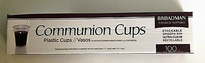 Broadman Church Communion Fellowship Disposable Clear Communion Cups 19 Boxes