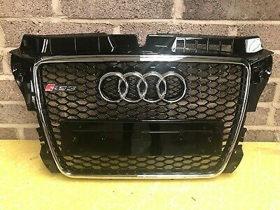 Audi A3 S3 RS3 8P Honeycomb Style Front Grill Grille Gloss Black 2008-2012