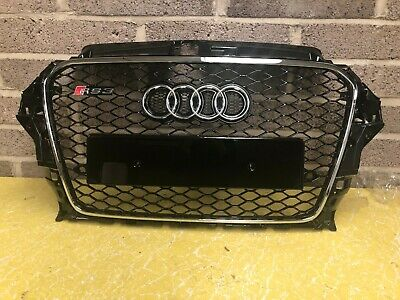 Audi A3 S3 RS3 8V Honeycomb Style Front Grill Grille Gloss Black 2013-2015