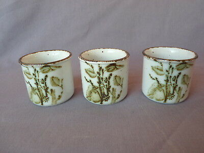 Midwinter Stonehenge Green Leaves 3 Eierbecher egg cups Made in England