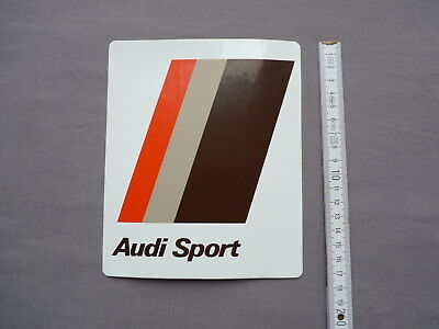 Audi Sport Aufkleber 17cm sticker label pegatina decal autocollant 80s 80er