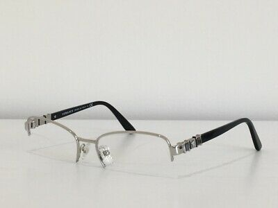 257743c7200a VERSACE WOMEN'S SILVER Glasses with case MOD 1231 1000 52mm - $87.68 ...