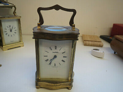 Vintage Henley carriage clock, brass cased mechanical movement James Walker