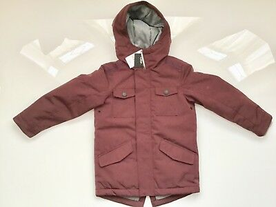 NEXT boys hooded jacket coat Burgundy BRAND NEW!!! WITH TAGS 5 Years