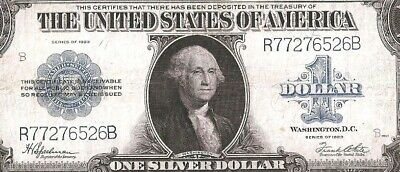Sharp Silver Certificate Horseblanket 1923 $1 Large Currency Note