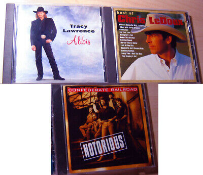 Country Western Music Cds 1990s - Chris LeDoux, Bryan White, Tracy Lawrence