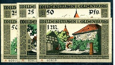 Wildeshausen i. Oldenburg 4 x Scheine Notgeld ........................z1479