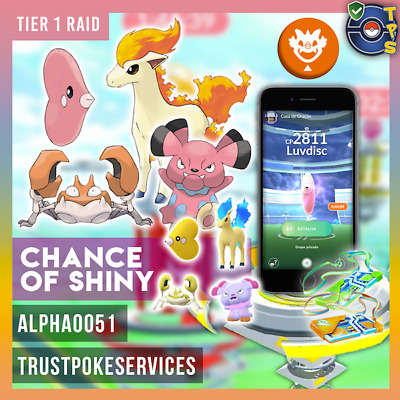 Pokemon GO GUARANTEED CAPTURE from Raids Tier 1 - Lot of 10 Catches