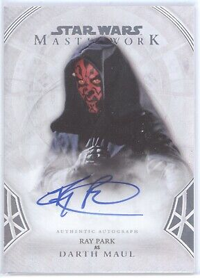 Topps Star Wars Masterwork 2018 RAY PARK as DARTH MAUL Auto Card 34/50