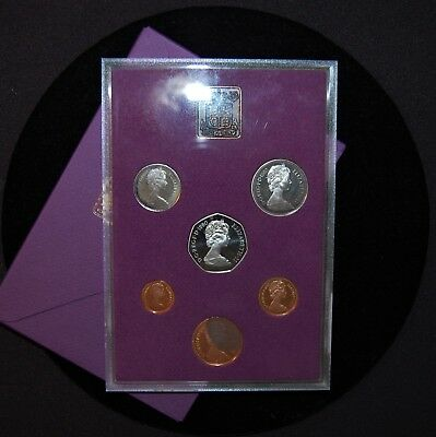 1980 6 Coin Proof Set - Coinage Of Great Britain And Northern Ireland - With Coa