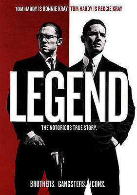Legend (DVD, 2016) TOM HARDY EMILY BROWNING - NEW!!