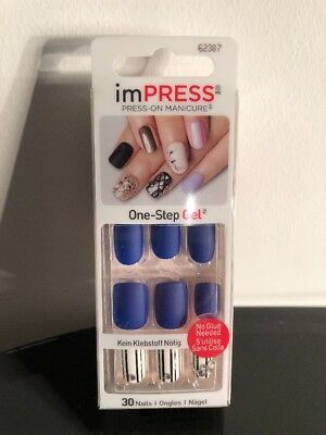 New imPRESS One-Step Gel Dual-Layer Self Adhesive Press On Matte Nails 62307