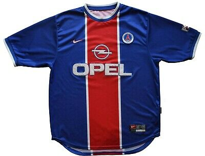 a465ce5d1 Paris Saint Germain Soccer PSG Football Club Nike Jersey Shirt 1999-2000  Opel L