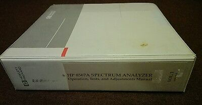 HP Agilent 8567A operating, tests and adjustments manual
