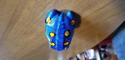 "Deluxe 3"" Wood Painted Frog Guiro Rasp - Musical Instrument Tone Block Blue"