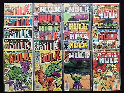 INCREDIBLE HULK Lot of 20 Marvel Comic Books - #235 236 261 285 290 293 294 +!