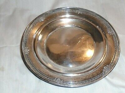 """Antique Sterling Silver Plate """"dh"""" Dominick & Haff Ah141-68, 8 1/2"""" Diameter"""