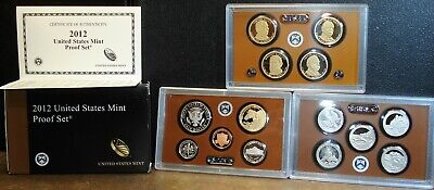 2012 US Mint Proof Set with COA and 14 Proof Coins